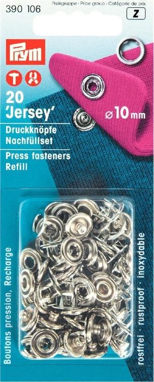 Prym REFILL Tryckknappar med ring. Metall 20 st 390106