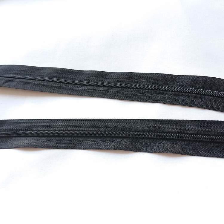 Blixtlås metervara - Svart Dragkedja 4 mm Berit