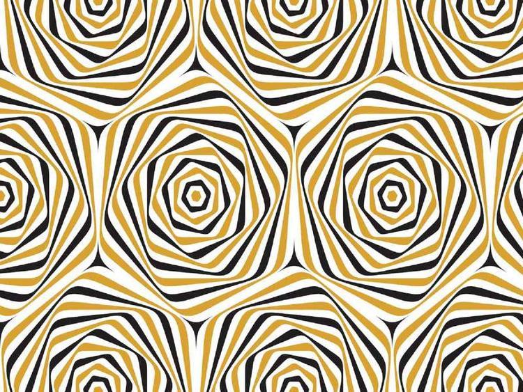 Bomullstrikå - Spiral, senap-marin