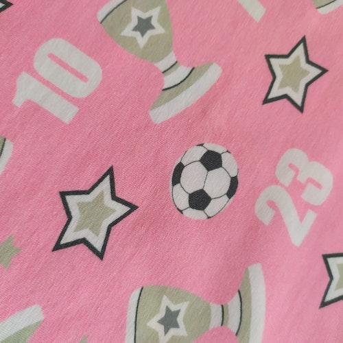 Bomullstrikå Glunz - Rosa Fotbollar v7