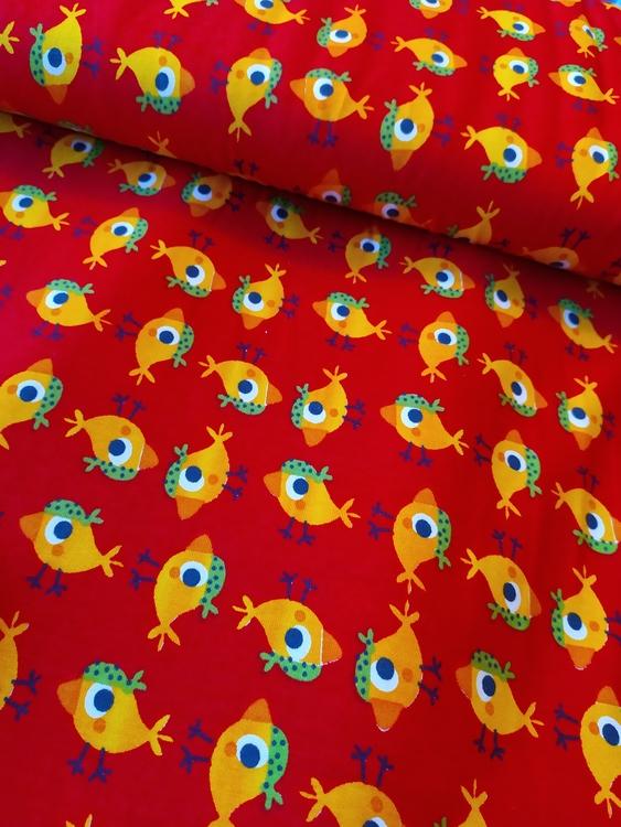 Bomullstrikå Glunz - Birdie Red v9