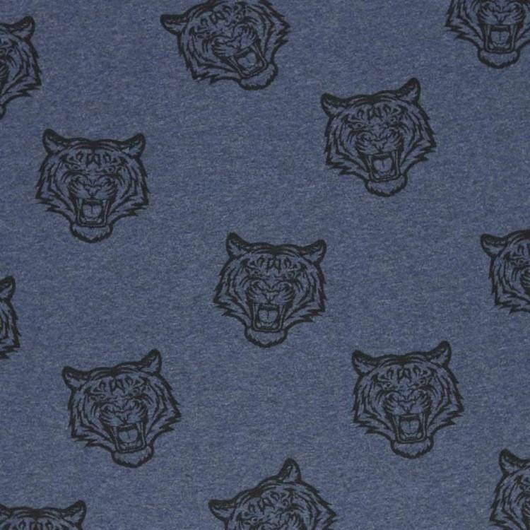 Bomullstrikå - Tiger jeansblå