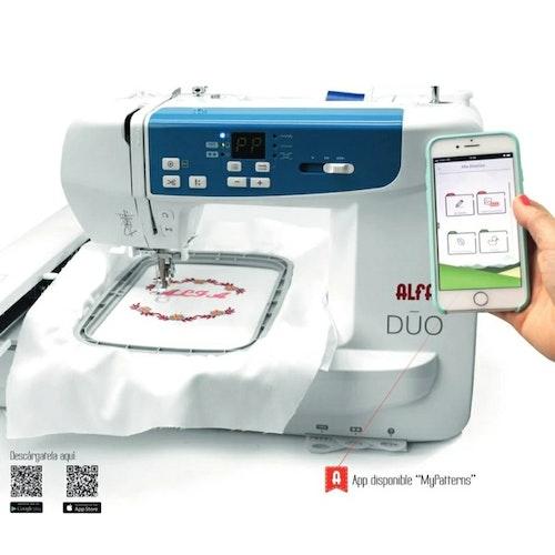 ALFA Hogar Symaskin & Broderimaskin som styrs med en app, inkl spoltråd