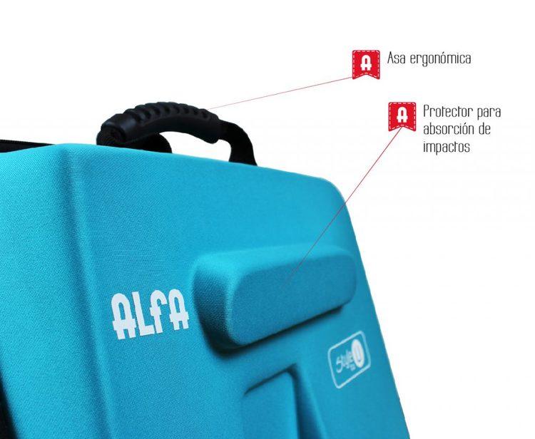 Alfa Hogar hård Väska Blå Mindre