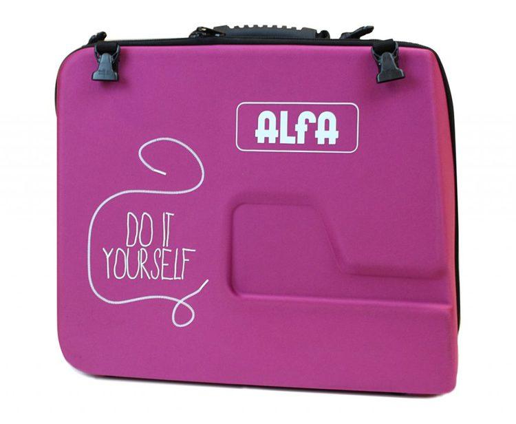Alfa Hogar hård Väska Fuchia Mindre