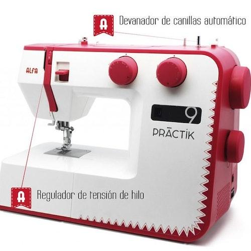 Alfa Hogar Praktik 9 Röd Symaskin