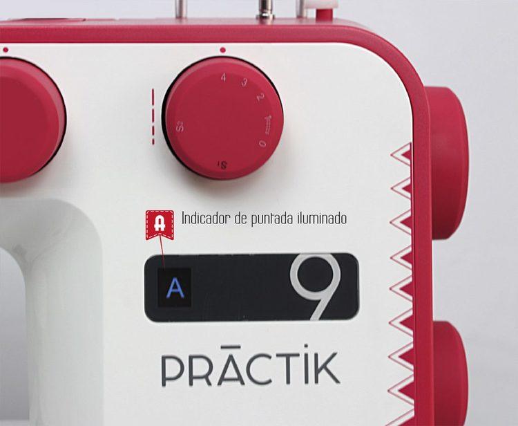 Alfa Hogar Practik 9 Röd Symaskin