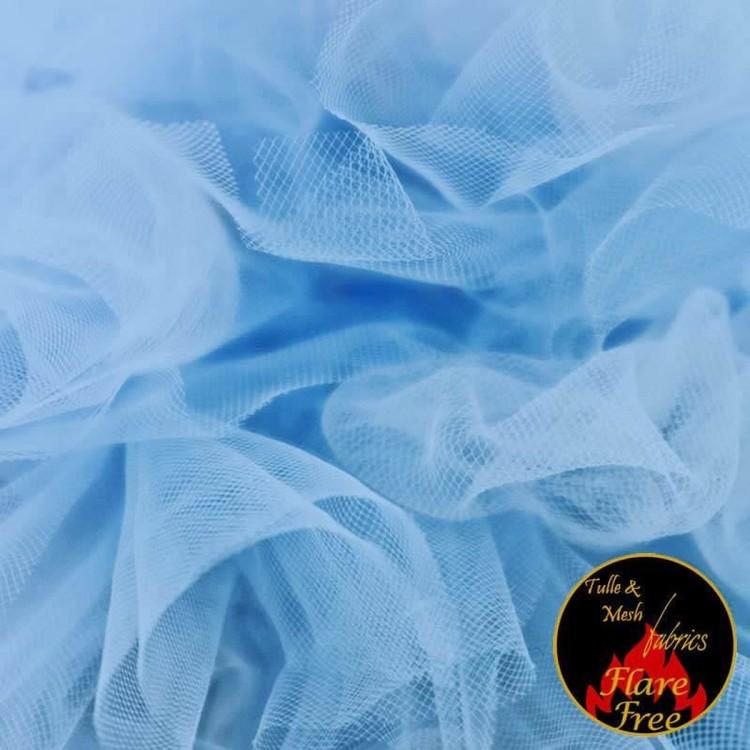 Tyll ljusblå 300 cm bred