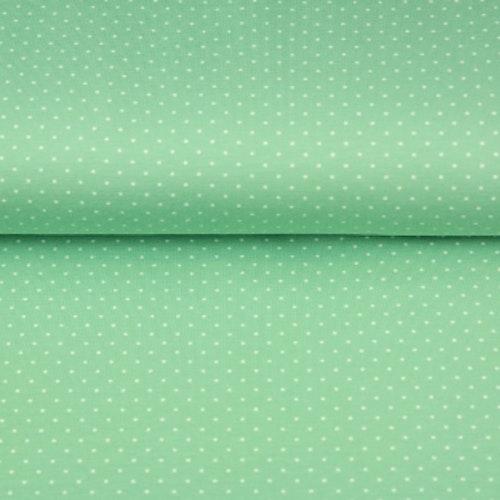 STENZO Bomullstrikå - Mintgrön med mindre prickar