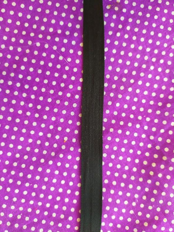 METERVARA Bomullsband / Handduksband 13 mm SVART säljs per meter