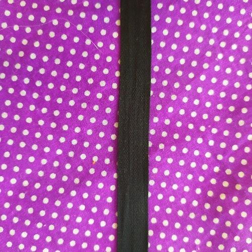 METERVARA Bomullsband / Handduksband 13 mm SVART