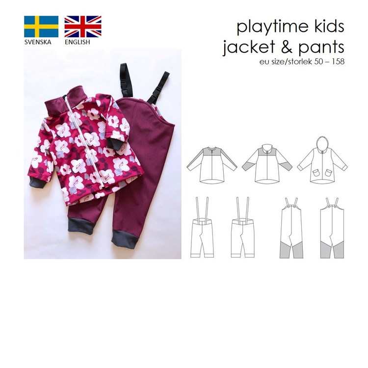 SewingHeart Design Playtime Kids jacket and pants
