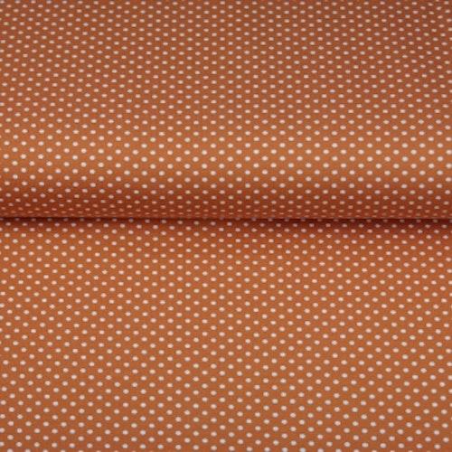 STENZO Bomullstrikå - Terrakotta med prickar