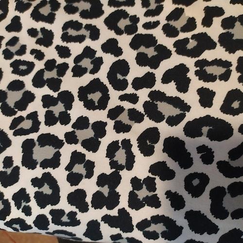 Bomullstrikå STENZO - Stor svart vit leopard