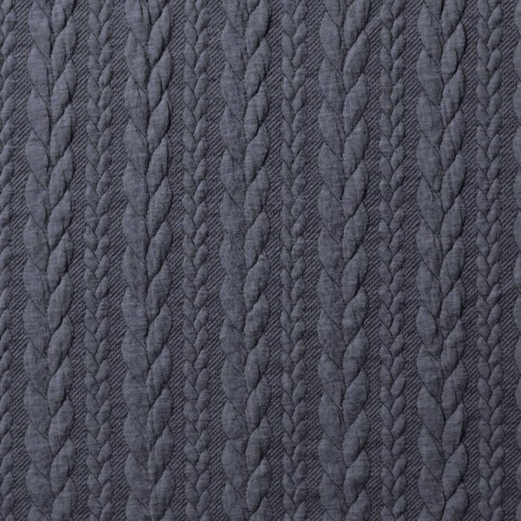 Jaquard - Kabelstickad Jeansblå