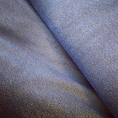 College öglad baksida -Ljusare jeansblå melerad