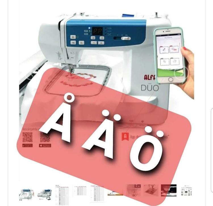 ALFA Hogar DUO Symaskin & Broderimaskin som styrs med en app, inkl spoltråd FÖRKÖP
