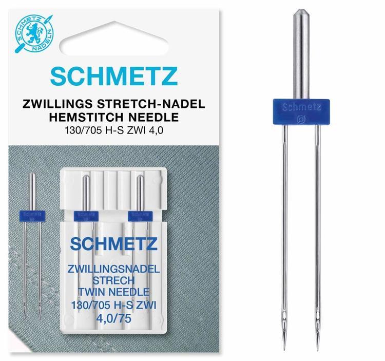 2-pack Schmetz Stretch Tvillingnål 4 mm
