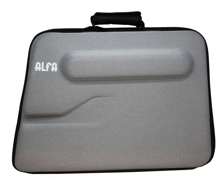 Alfa Hogar hård Väska Grå större