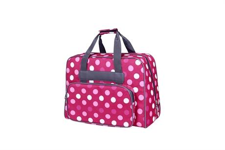 Förköp Baby Snap Symaskins väska Fuchia med Prickar