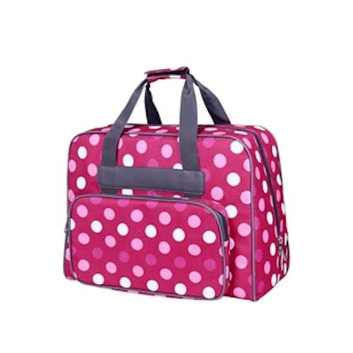 Förköp - Baby Snap Symaskins väska Fuchia med Prickar