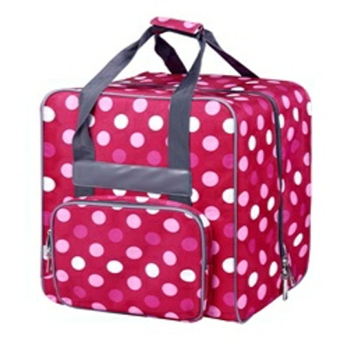 Baby Snap EXTRA LARGE Cover & Coverlock väska Fuchia med Prickar