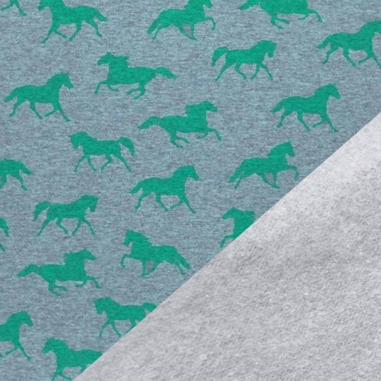 College flossad baksida - Gröna hästar
