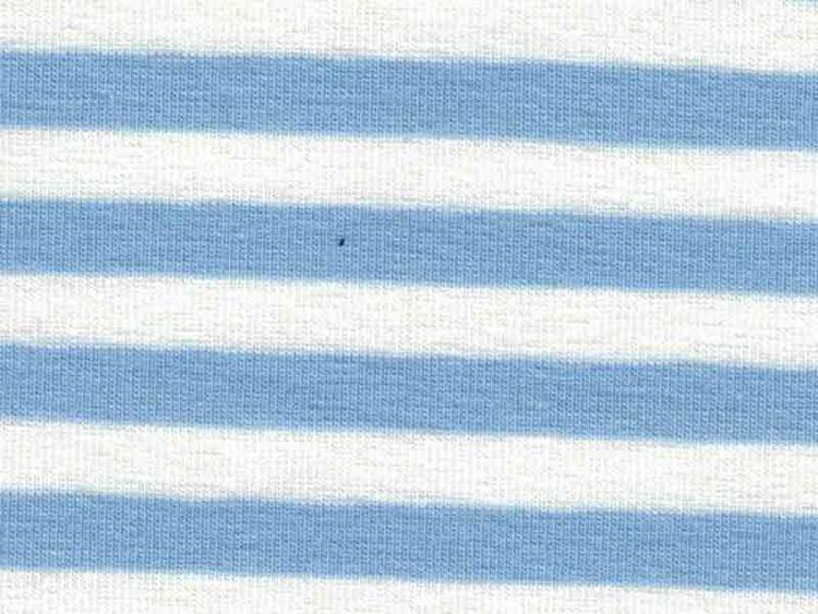 Bomullstrikå, Randig - Vit och ljusblå