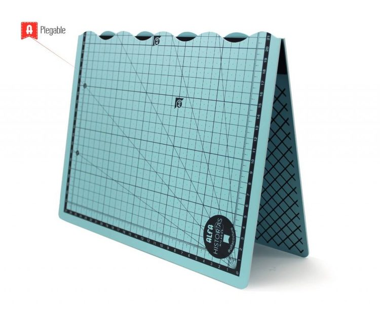 Vikbar Skärmatta 30x45 cm - Ljusblå ALFA