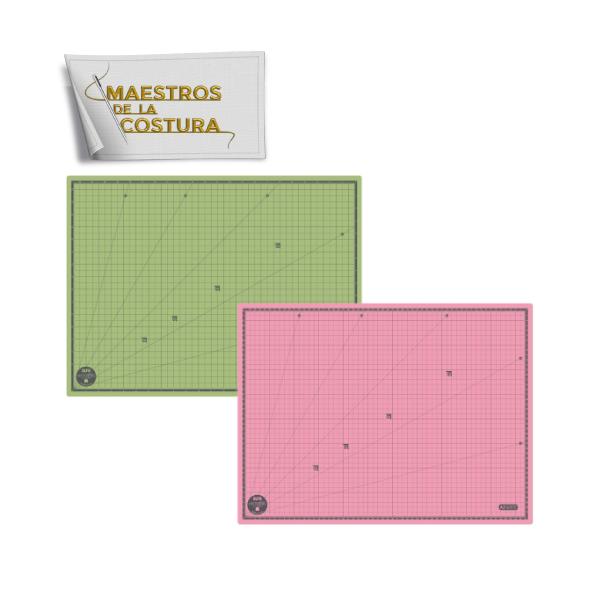 Skärmatta 45x60 cm - Ljusrosa / ljusgrön