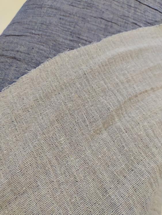 Muslin Double Gauze jeans melerad