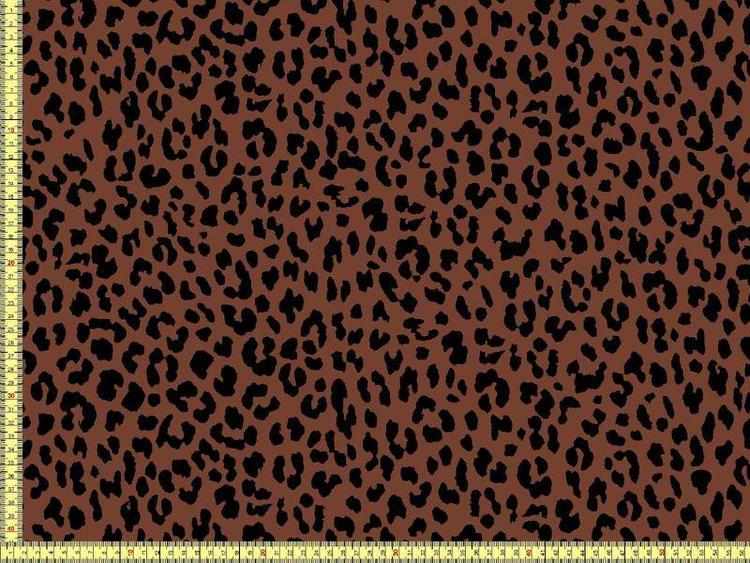 Bomullstrikå - konjak leopard