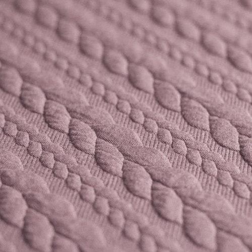 Jaquard - Kabelstickad Old Pink