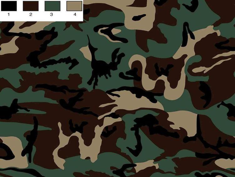 College flossad baksida - BRUN / grön Camouflage GOTS