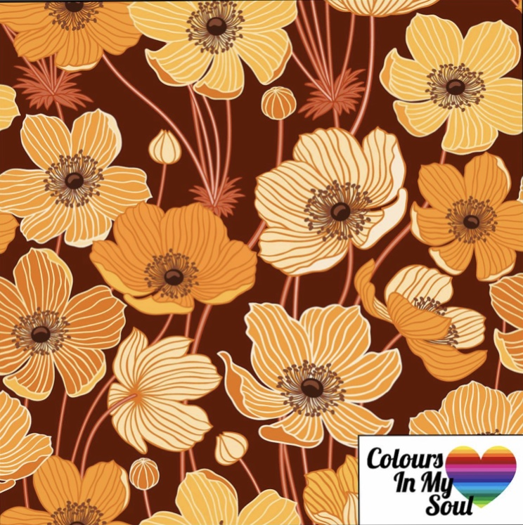 Colour in my soul Anemone - Brown/Yellow