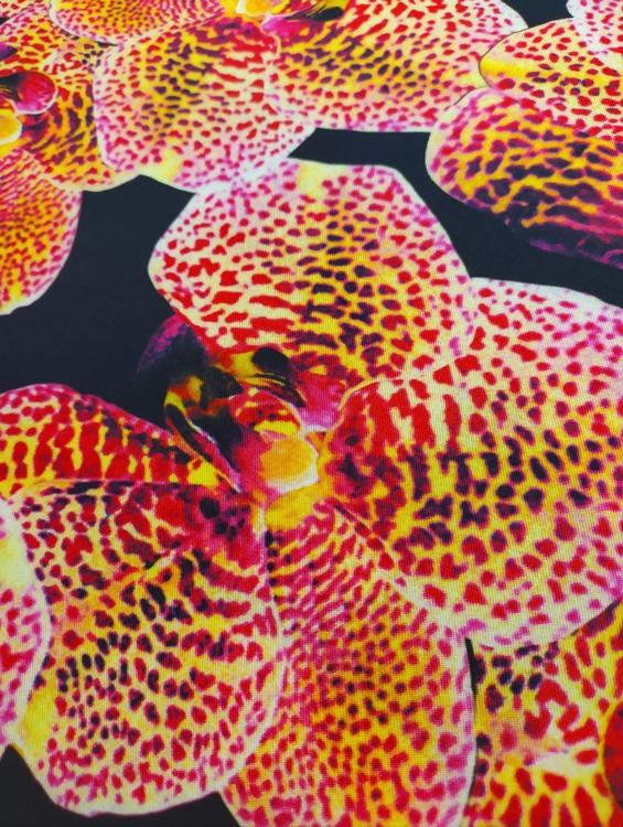 Vävd viskos - Orkidé
