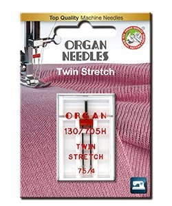 Nål ORGAN -Stretch tvillingnål 75  4 mm