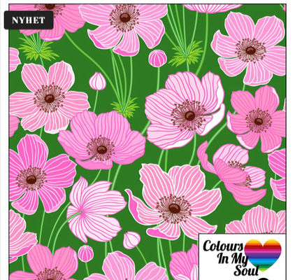 Colour in my soul Anemone - Green/Pink