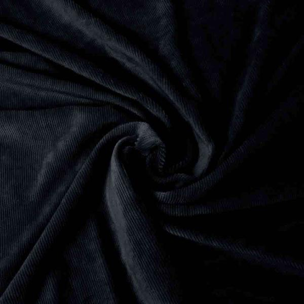 Smalspårig manchestervelour - Svart