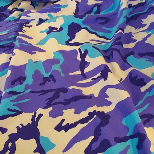 College flossad baksida -Blå/turkos Camouflage