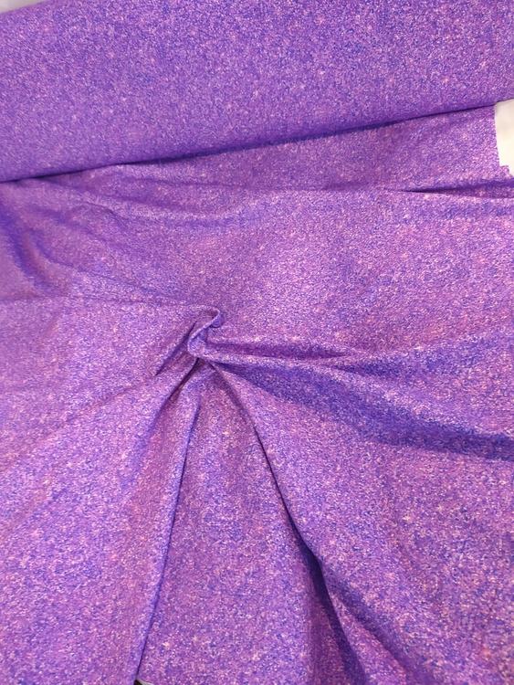 Bomullstrikå - Tryckt glitter lila