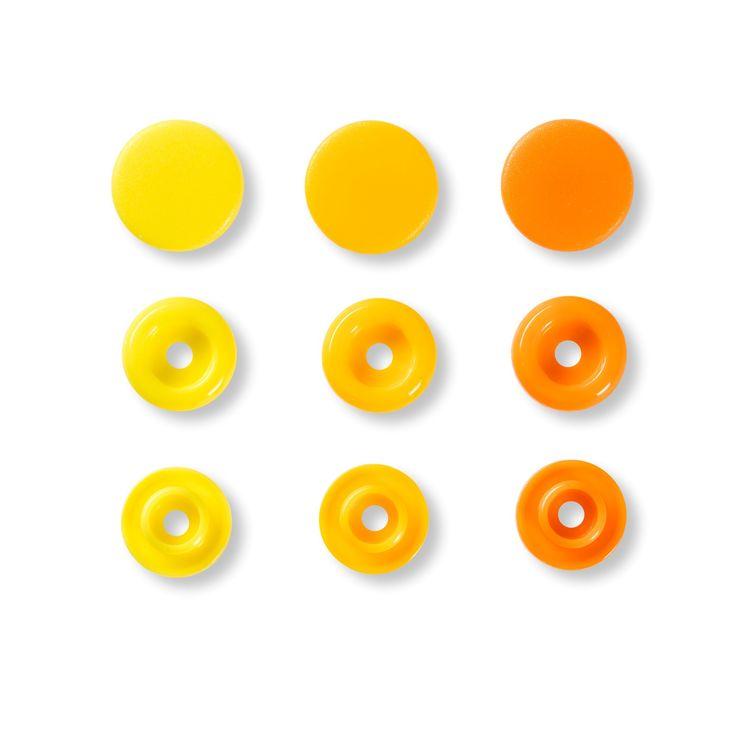 Colour snaps Plast tryckknappar Gul-mix