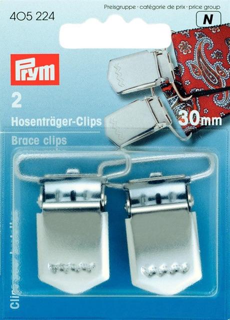 Prym hängsle CLIPS för tex Jeans , silverfärgad 30 mm