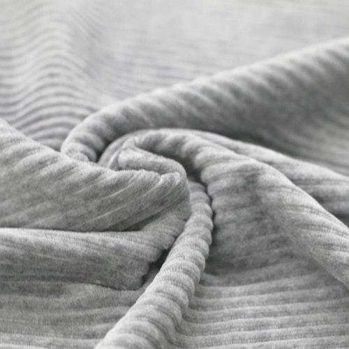 Bredspårig manchestervelour - Ljusgrå MELERAD