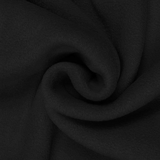 Fleece Polyester Svart