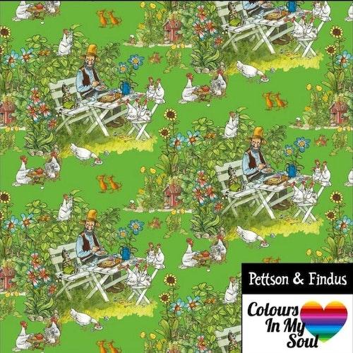 Pettson och Findus FIKA STUNDEN Grön trikå