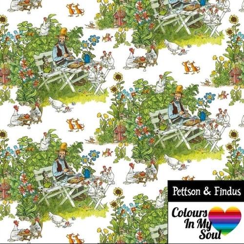 Pettson och Findus FIKA STUNDEN Vit trikå
