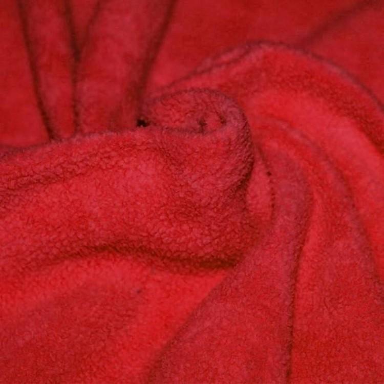Fleece BOMULL SHERPA Röd