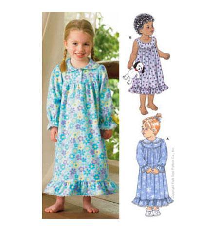 Kwik Sew 3423 - Pyjamas barn - Nattlinne