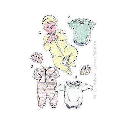 Kwik Sew 2433 - Top Jumpsuit Tofflor - Baby - Hatt